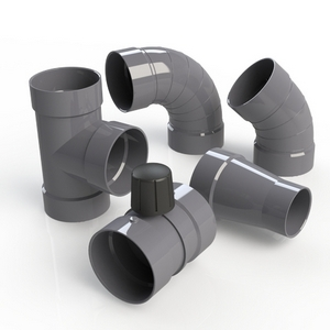 PVC-U ilmastointiosat