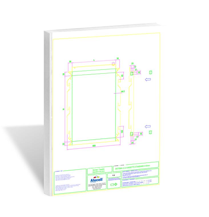 Vink | Tekniset Piirrustukset | Kasettijulkisivu Alucoil